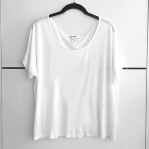 Classic Plain White Short Sleeve Tee T-Shirt